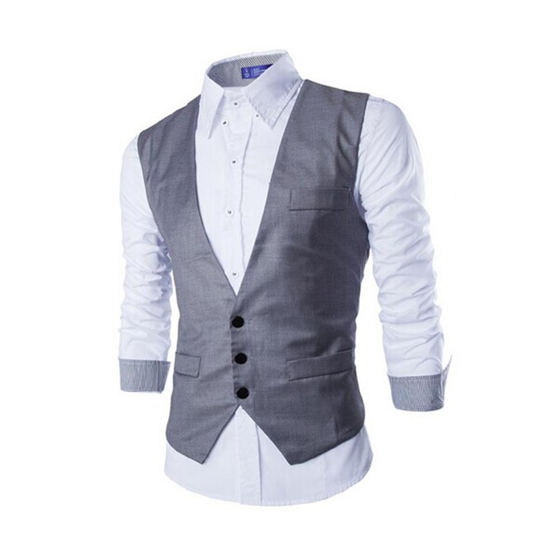 2015 New Arrival Terno Masculino Men Suit Vest Brand Fashion Dress Mens Business Tuxedo Waistcoat Gilet Colete Masculina ZHY1876