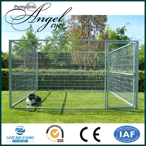Wire mesh fencing heavy duty metal dog crate with roof