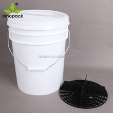 20 Liter Plastic Car Wash Bucket With Gamma Seal Lid and Grit Guard