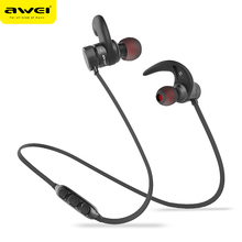 New AWEI A920BLS high-quality wireless headphones sports ear hanging earplugs microphone headset mobile phone universal