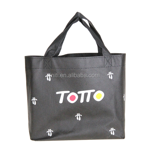 Black Reusable Grocery Tote Bag