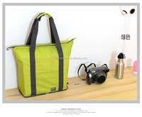 waterproof nylon foldable zipper tote bag, folding tote bag