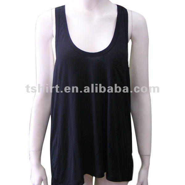 Pura te negro blanco suelto seamless tank tops camisetas for Suelto blanco suelto barato