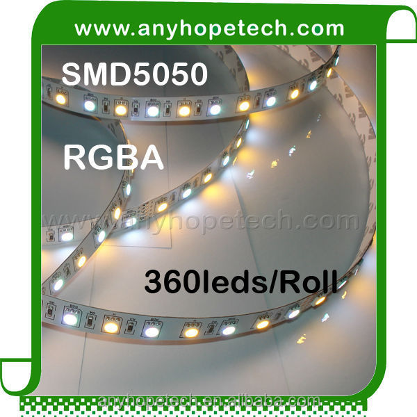 Multi color 5050 RGBA 24v 300LEDs wholesale led strip light