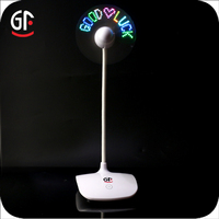School Decoration Ideas Touch Switch Magic Message LED Mini Toy Fan