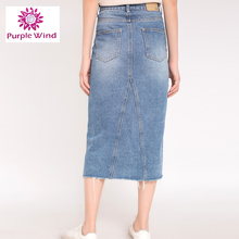 Factory Directly Sale wholesale ladies long denim skirts