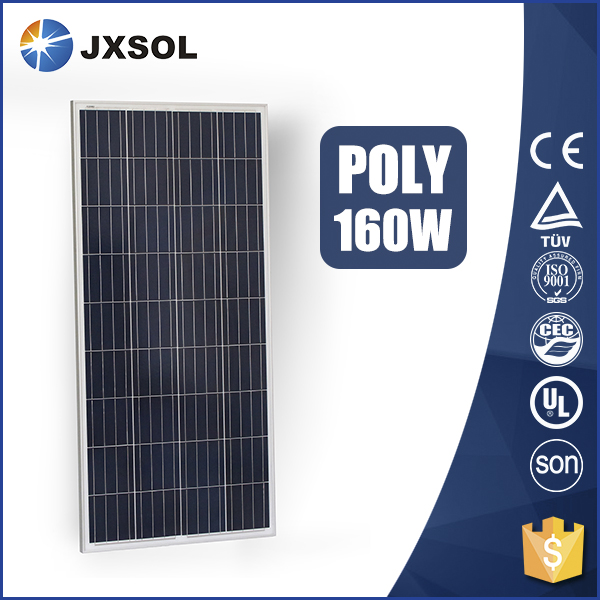 Top selling high efficiency polysilicon 160w solar panel cells