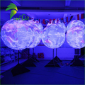 Event Party Decorations Color Changing LED Light Inflatable Tripod Standing Earth Ball