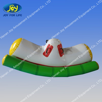 novelty design water park hose toy/floating inflated rocker teeter/totter game