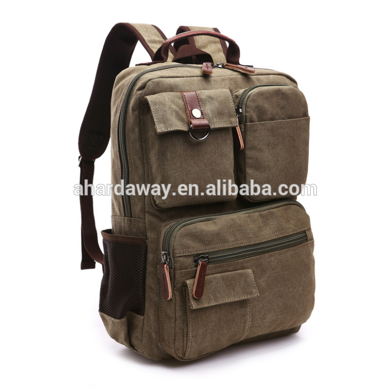 Wholesale stylish and durable laptop canvas backpack