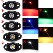 LED Rock Light Kits For Off Road Truck Car ATV SUV Under Body Glow Light Lamp Trail Fender Lighting (White, Amber, Red Etc)