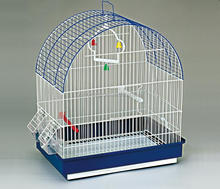 small round proof iron brid breeding cage with drinker and feeder 18100A