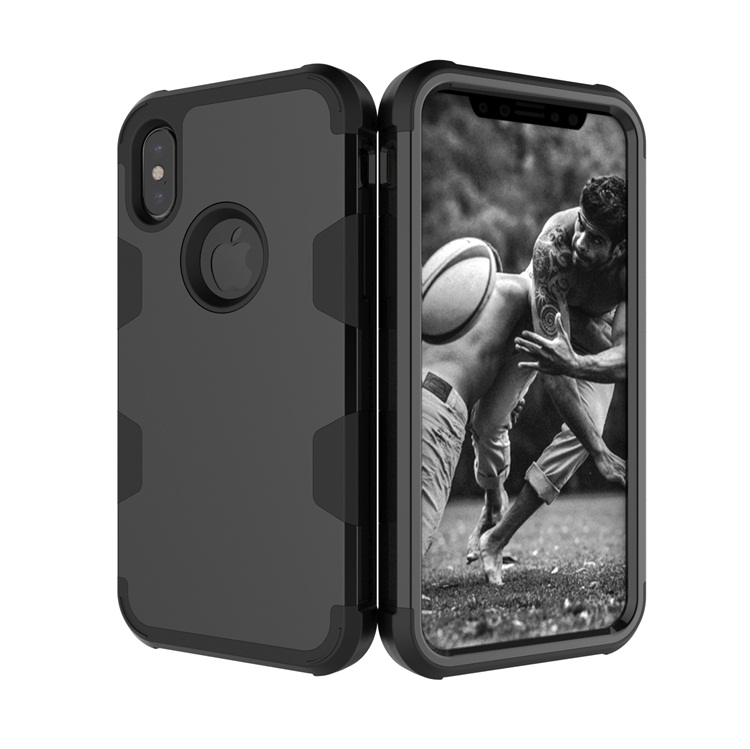 Wholesale 3 in 1 PC+Silicone Robot Armor Mobile Phone Case For iPhone X Cover