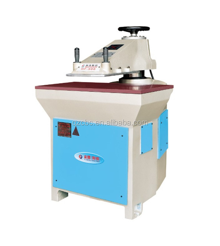 Swing arm heat cutting leather shoe press making machines