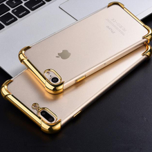 2017 Hot Sale TPU Phone Case Aluminium Electroplate for iphone 7 case