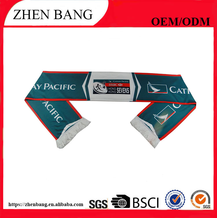 Promotional good quality football knit scarf from China