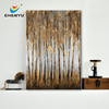 Brown Trees Landscape Canvas Art with Heavy Texture 30x40""
