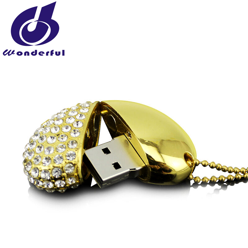 Gadget Heart shaped waterproof Jewelry usb flash drive for gift or use
