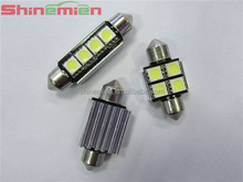 hot sell festoon 4smd 31MM 33mm 39mm 41mm led canbus lamp T10 car leds festoon light 4SMD 5050chip