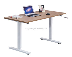 Crank Handle Height Adjustable Computer Desk