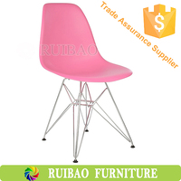 Cheap Colorful Plastic with Steel Frame Ikea Dinning Chair Replica