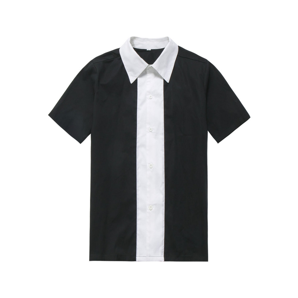 2016 american apparel street unique design mans 50s 60s style bowling <strong>shirt</strong>