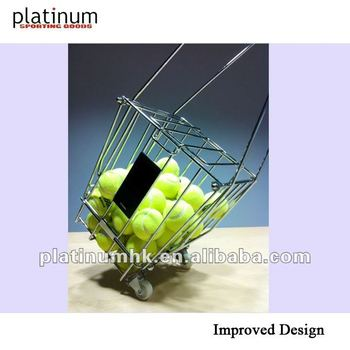 Tennis Ball Basket / Tennis Ball Hopper / Tennis Ball Caddy / Tennis Ball Pick-up (TM0159,with casters,hold 72 balls)