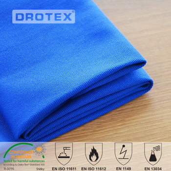 Russian Market 450gsm 4/1 sateen Cotton fireproof cloth material fabric for heavy industry workwear