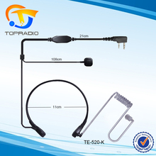 Throat Mic PTT Headset Microphone Speaker 2 Way Radio Earpiece Headphone Finger PTT Walkie Talkie Throat Mic PTT