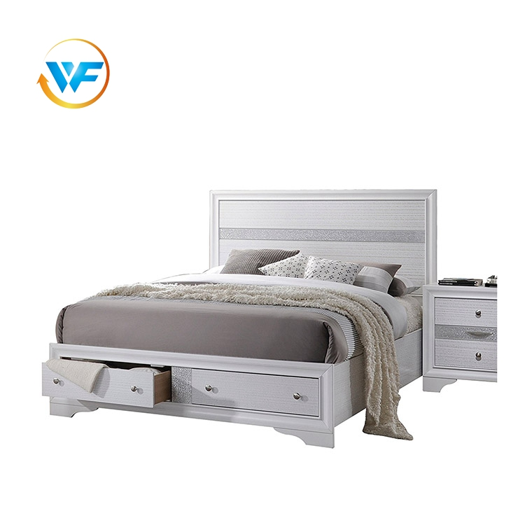 wholesale Wooden Furniture Designs Double Bed With Storage