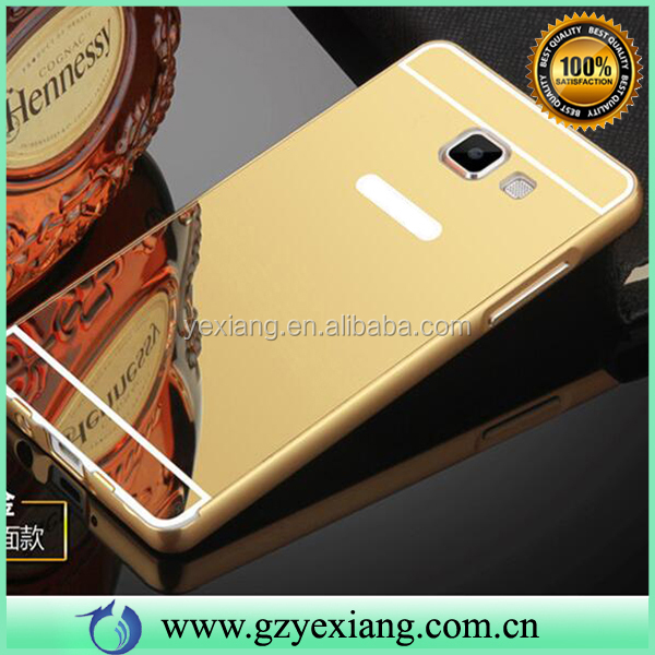 Hot Selling Luxury Aluminum metal Bumper case Cover for Samsung J5 Prime Mirror Case
