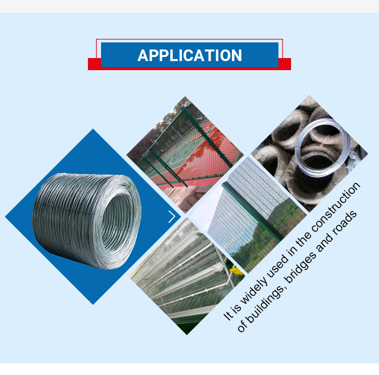 Mytext 6mm high tensile hot dipped galvanized steel wire