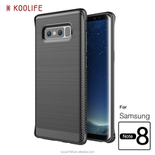 phone accessories wire drawing Silicone mobile phone Case for Samsung galaxy Note 8 case