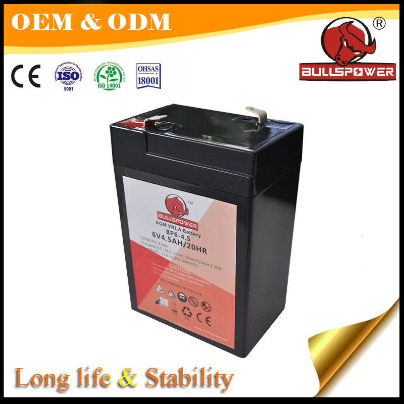 Deep cycle Storage sail battery 12ah 6v 7ah rechargeable lead acid battery