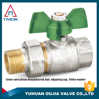 Factory stock high quanlity forged CW617N brass ball valve 600 wog lever handle brass ball valve in Oujia valve company
