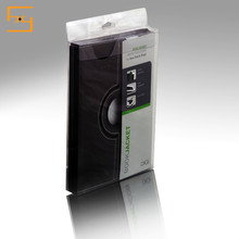 Clear pvc phone case box/plastic packaging with euro hole for power bank,charger,phone case