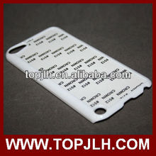 Sublimation cover case for ipod 5 for itouch 5 blank case