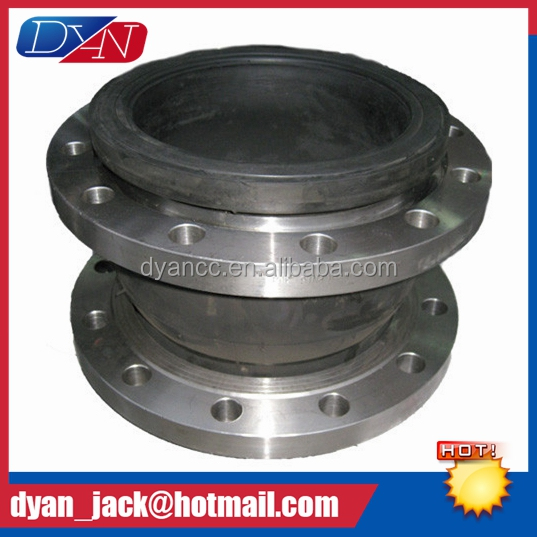 Stainless steel flange Single Sphere epdm rubber expansion joint for fire main