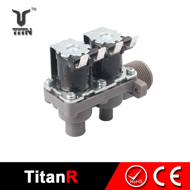 Water treatment dual solenoid valve