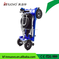 2018 lithium battery Light weight 4 Wheel Folding Mobility Electric Scooters for handicap elderly from Chinese super supplier
