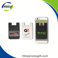 Hot slae 3m sticker silicon smart wallet mobile phone card
