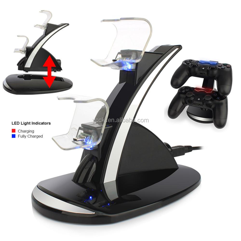 Factory Double Charge Station for PS4 Stand Charging Dock for Sony Playstation 4/PS4 Controllers