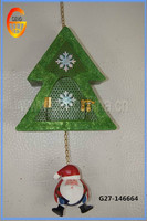 Wall hanging decor metal christmas tree