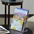 Acrylic magnetic magazine literature display stand file hoder for shops office