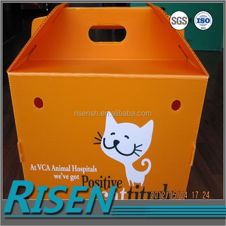 Customized 4mm pp new material transport folding corrugated plastic pet box