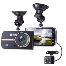 Hot in Amazon JEEMAK 4inch IPS Dual Lens Car Dash Cam FHD 1080P Dashboard Camera DVR recorder
