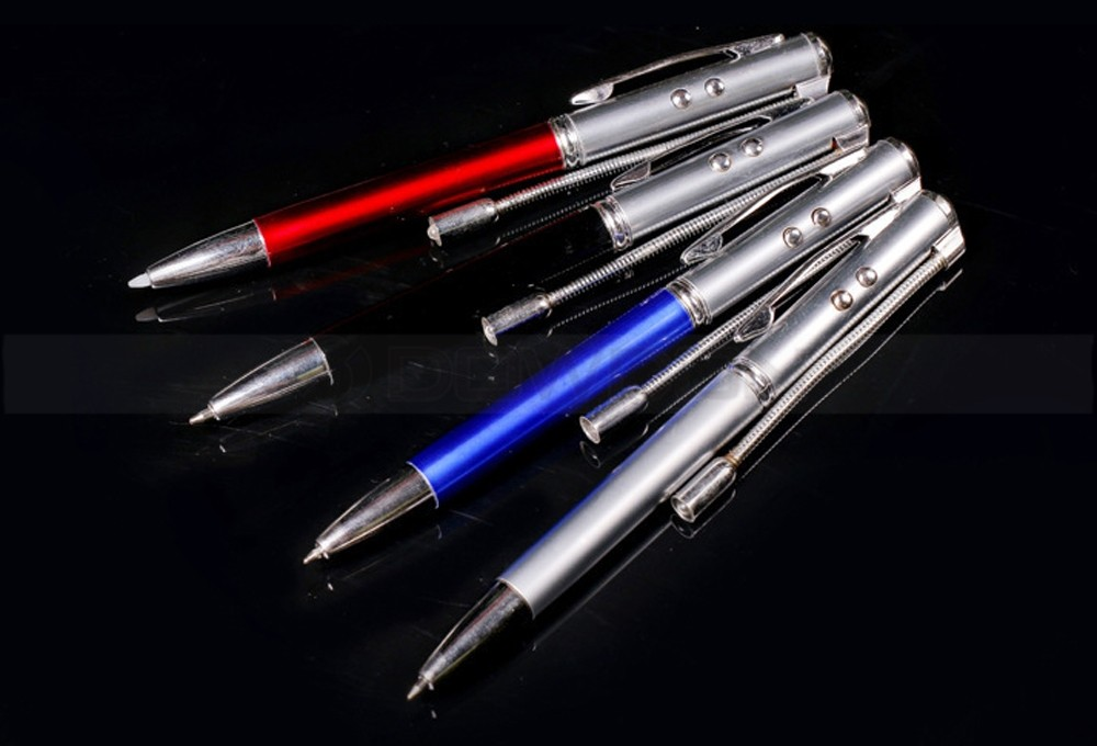 Pen 5 in 1 Laser Pointer UV Light Stylus Tip Flashlight Ballpoint Multifunction