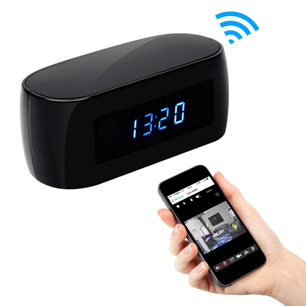 New Style WiFi Night Vision Table Clock Wireless Motion Detection Electronic Clock Camera