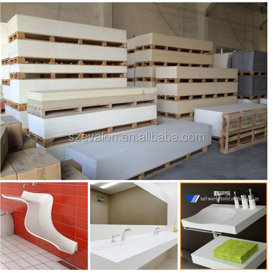 solid surface raw material , solid surface price countertops,Artificial acrylic solid surface sheet