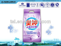 white color and blue color bulk packing washing detergent powder